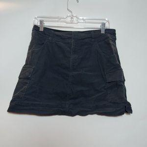 Lucy gray corduroy short skirt cargo pockets